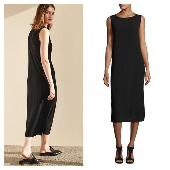 11c0bc41c4ae Eileen Fisher Dresses   Black Silk Midi Dress   Poshmark